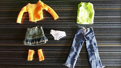 Only Hearts Club Lot #x6 Doll Outfits  2 Tops, Jean Skirt, Panties, Legging More