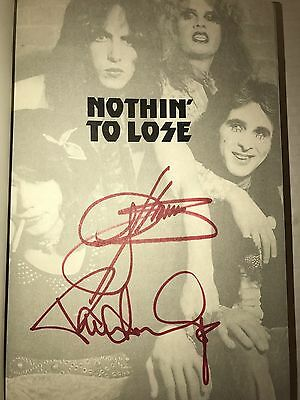 Kiss Gene Simmons Paul Stanley Signed Book Nothin To Lose Brand New Autographed