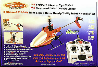 MINI TWISTER SPORT RC HELICOPTER 4 CHANNEL SINGLE ROTOR 2.4GHz