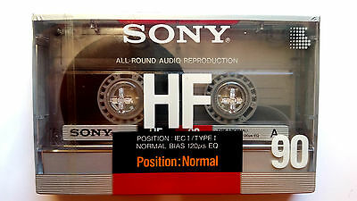 CASSETTE TAPE BLANK SEALED - 1x (one) SONY HF 90 A [1988] made in Japan