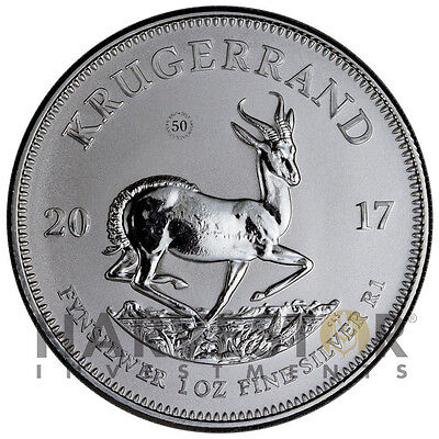 2017 Silver Krugerrand - 50Th Anniversary South Africa Krugerrand - First Ever