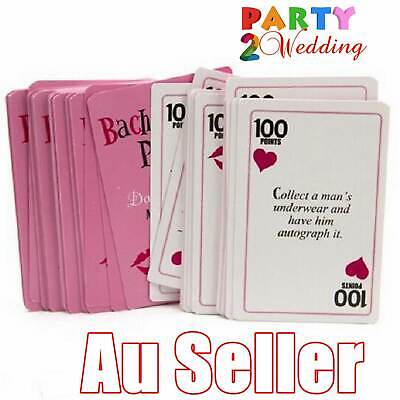 52x Bachelorette Hens Night Party Novelty Game Dare to do it Activity Fun Cards