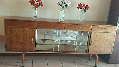 Antique solid wood buffet/ display cabinet