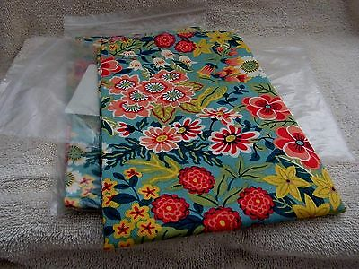 Longaberger 18.5 Fabric Square Perennial Garden New in Bag  Napkin