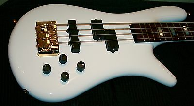 SPECTOR EURO 4LX BaSS WhiTe GloSS + Original Case Funky Bass adelic! NiCe!