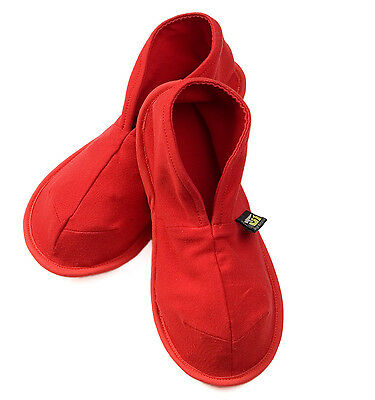 NEW Red unisex cotton slippers by Solz house shoes