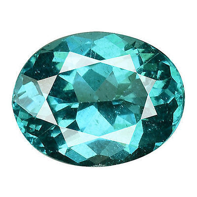 1.345 Cts Extraordinary Luster Blue Green Natural Apatite Oval Loose Gemstones