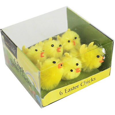 Large Easter Chicks - Pack Of 6, Gifts, Brand New