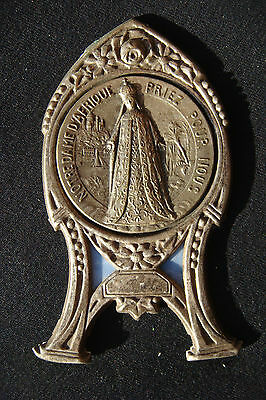 Our Lady Of Africa Vintage France Beautiful Small Silvered Bronze  Icon