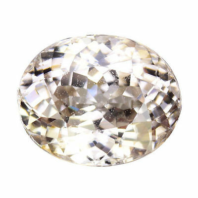 2.080Cts Marvelous Luster White Natural Zircon Oval Loose Gemstones