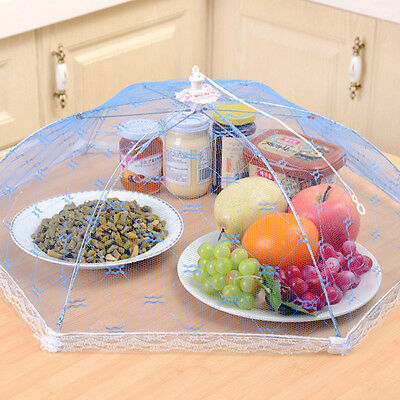 1Pc Hexagonal Foldable Mesh Food Cover Umbrella Anti Fly Mosquito Table Cooking