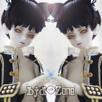 NEW 7-8inch 17-19cm Black Purple Fashion Handsome BJD 1/4 MSD Doll Wig