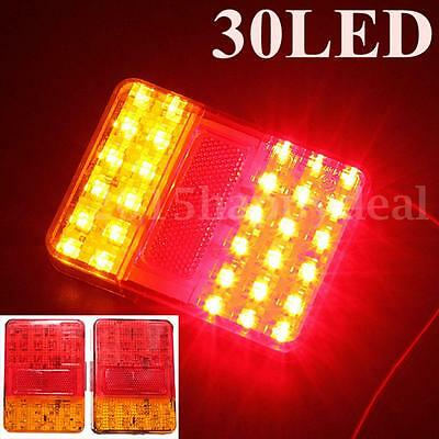 2x 12V LED Tail light Stop REAR Indicator Lamp Truck Lorry Van Trailer E-Marked