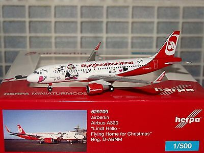 Herpa 500 airberlin A320 D-ABNM Lindt Hello 529709 1/500 **Free S&H** 1216