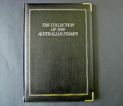 The Collection of 1990 Australian Stamps  Album -  No Stamps Included