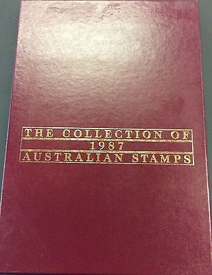The Collection of 1987 Australian Stamps Album - No Stamps Included