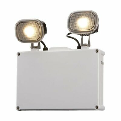 IP65 Twin 3W LED Spot Emergency Light. Non Maintained - Warehouses, Offices