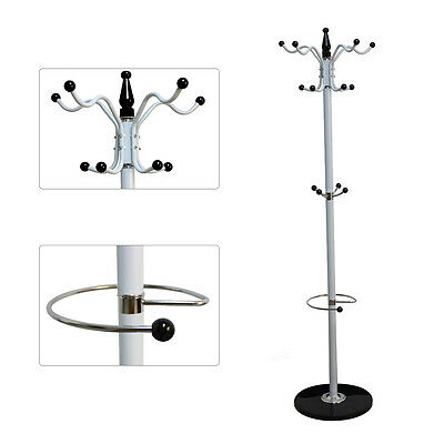 Clothes Umbrella Rack Stand Coat Rack Hat Hapilife 15 Hooks with Marble Base