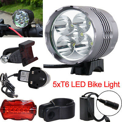 Ultra Bright 8000LM CREE T6 LED Bike Front Light Mountain Bicycle HeadLight UK