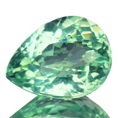 1.490Cts Excellent Luster Green Natural Apatite Pear Loose Gemstones