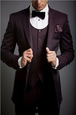 New Style Men Wedding Groom Tuxedos Groomsmen Best Man Suit Party Prom Tuxedos