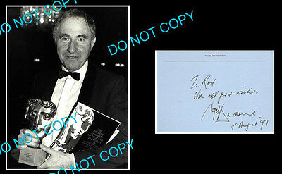 Nigel Hawthorne Yes Minister Star Signed Cover +1 Photo