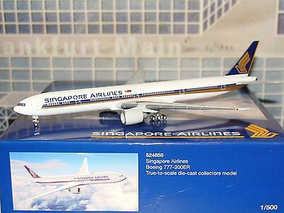 Herpa Wings 500 Singapore Airlines B777 -300ER Official Exclusive 1/500