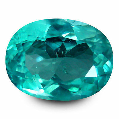 1.745Cts FANTASTIC LUSTER NEON BLUE 100% NATURAL APATITE OVAL LOOSE GEMSTONES