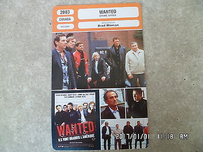 CARTE FICHE CINEMA 2003 WANTED Gérard Depardieu Johnny Hallyday Renaud