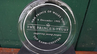 1995 Prince Charles royal visit to Chester Princes Trust Paperweight in Box