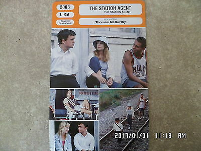 CARTE FICHE CINEMA 2003 THE STATION AGENT Peter Dinklage Patricia Clarkson