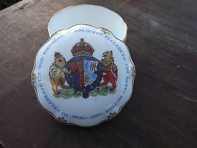 1995 Queen Mother's 95th Birthday Crown Derby lidded bowl Limited edition
