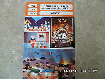 Carte Fiche Cinema 1999 South Park Le Film