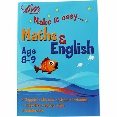 Letts Maths and English - Ages 8-9 (Paperback), Children's Books, Brand New