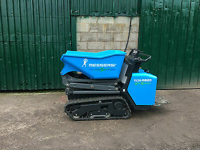 Messersi Fully Electric Tracked high-tip Mini Dumper Hire - Zero Emissions