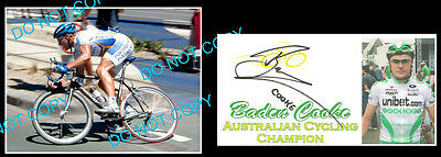 Baden Cooke Aust Cycling Tour De France Star Signed Cover +1 Photo