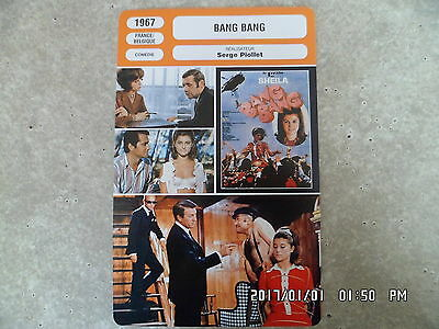 CARTE FICHE CINEMA 1967 BANG BANG Sheila Brett Halsey Gaia Germani
