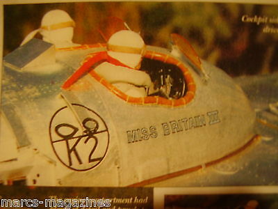A Model Boat Plan Miss Britain Iii Racing Power Boat  On 8 Sheets X  A3 Paper