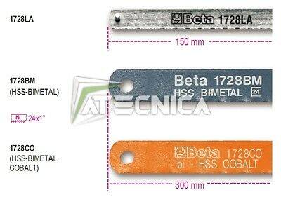 Lame lama seghetto originali Beta 1728BM BIMETAL - HSS 300 mm BM 24 n° 10 pz