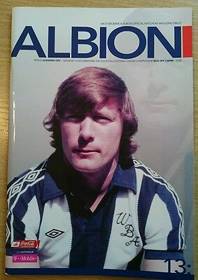West Bromwich Albion v Coventry City programme, Championship 2006/07