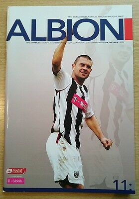 West Bromwich Albion v Burnley programme, Championship 2006/07