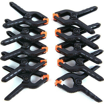 10X Photo Studio Light Photo Background Clips Backdrop Clamps A Type New .-
