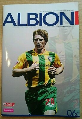 West Bromwich Albion v Leeds United football programme, Championship 2006/07