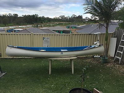 """AC"" Canoe (Affordable Canadian Brand) : 3 Man, Hardly Used 4.3m Fibreglass"