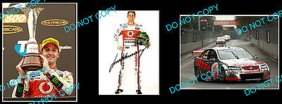 Jamie Whincup Signed Holden Team Vodafone Motor Racing Photo +2 Photos