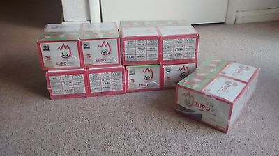 PANINI EURO 2008 10 x 100 PACKET BOXES FACTORY SEALED 5000 STICKERS!
