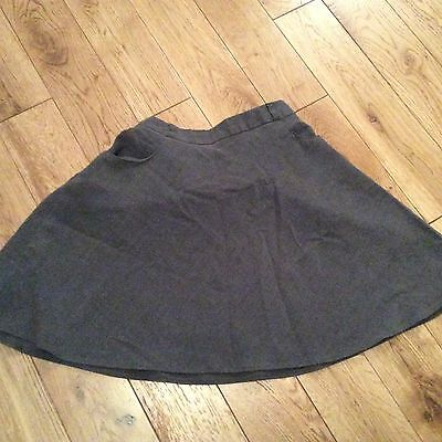 Girls Grey School Skirt By F&F At Tesco Age 7-8 Years