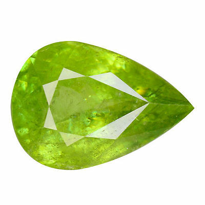 3.005Cts Super Top Luster Green Natural Sphne Pear Loose Gemstones