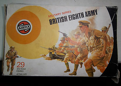 29 Airfix  Ww2 British Eighth Army Infantry Soldiers 1/32 Scale & Box