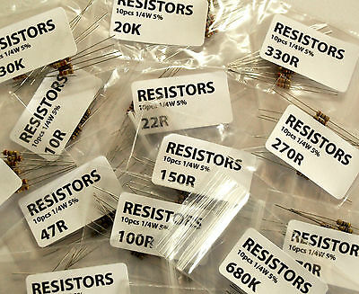 Resistors Carbon Film Choose Values or Mix Pack or LDR | UK Seller